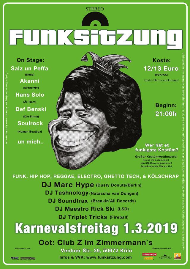 Funksitzung 2019 am Karnevalsfreitag 01.03. im Club Z im Zimmermann's, Köln